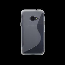 Samsung Galaxy Xcover 4/4S - Gumiran ovitek (TPU) - belo-prosojen SLine