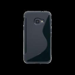 Samsung Galaxy Xcover 4/4S - Gumiran ovitek (TPU) - črn SLine