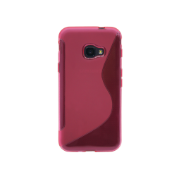 Samsung Galaxy Xcover 4/4S - Gumiran ovitek (TPU) - roza-prosojen SLine
