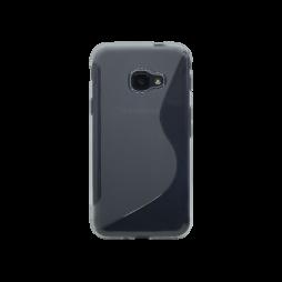 Samsung Galaxy Xcover 4 - Gumiran ovitek (TPU) - sivo-prosojen SLine