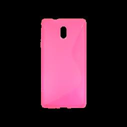 Nokia 3 - Gumiran ovitek (TPU) - roza-prosojen SLine
