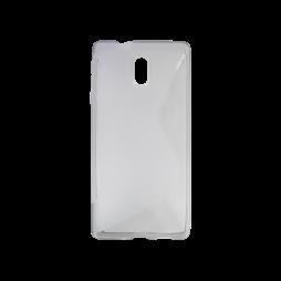 Nokia 3 - Gumiran ovitek (TPU) - sivo-prosojen SLine
