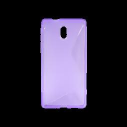 Nokia 3 - Gumiran ovitek (TPU) - vijolično-prosojen SLine