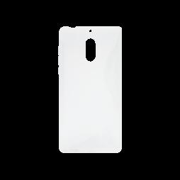 Nokia 6 - Gumiran ovitek (TPU) - belo-prosojen SLine