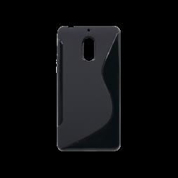 Nokia 6 - Gumiran ovitek (TPU) - črn SLine