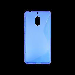Nokia 6 - Gumiran ovitek (TPU) - modro-prosojen SLine