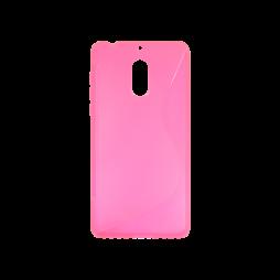 Nokia 6 - Gumiran ovitek (TPU) - roza-prosojen SLine