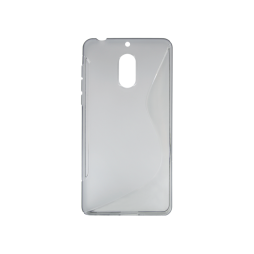 Nokia 6 - Gumiran ovitek (TPU) - sivo-prosojen SLine