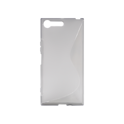 Sony Xperia XZ Premium - Gumiran ovitek (TPU) - sivo-prosojen SLine