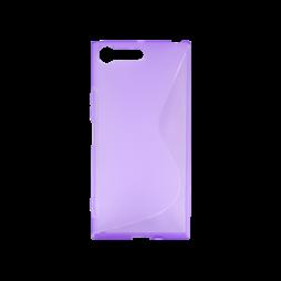 Sony Xperia XZ Premium - Gumiran ovitek (TPU) - vijolično-prosojen SLine