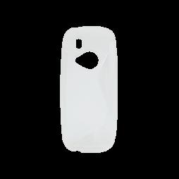 Nokia 3310 (2017) - Gumiran ovitek (TPU) - belo-prosojen SLine