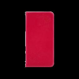 Huawei Honor 8 Lite/8 Lite (2017)/P9 Lite (2017)/ Nova Lite - Preklopna torbica (WLGO-Butterfly) - rdeča