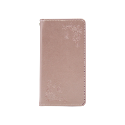 Samsung Galaxy S8+ - Preklopna torbica (WLGO-Butterfly) - roza-zlata