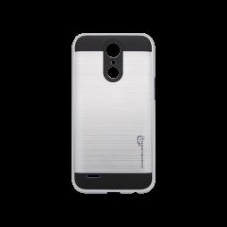 LG K10 (2017) - Gumiran ovitek (ARM-01) - srebrn