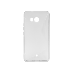 HTC U11- Gumiran ovitek (TPU) - belo-prosojen SLine