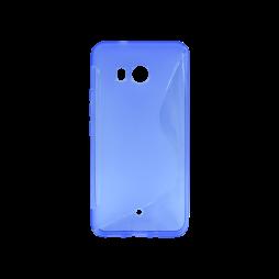 HTC U11 - Gumiran ovitek (TPU) - modro-prosojen SLine
