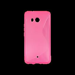 HTC U11 - Gumiran ovitek (TPU) - roza-prosojen SLine