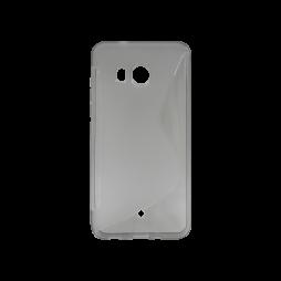 HTC U11 - Gumiran ovitek (TPU) - sivo-prosojen SLine
