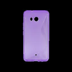 HTC U11 - Gumiran ovitek (TPU) - vijolično-prosojen SLine