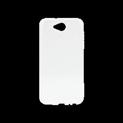 LG X Power 2 - Gumiran ovitek (TPU) - belo-prosojen svetleč
