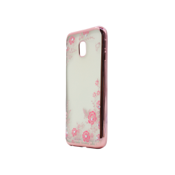Samsung Galaxy J3 (2017) - Gumiran ovitek (TPUE) - roza rob - roza rožice
