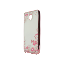 Samsung Galaxy J5 (2017) - Gumiran ovitek (TPUE) - roza rob - roza rožice