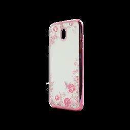 Samsung Galaxy J7 (2017) - Gumiran ovitek (TPUE) - roza rob - roza rožice