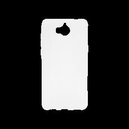 Huawei Y6 (2017) / Y5 (2017) - Gumiran ovitek (TPU) - belo-prosojen CS-Type