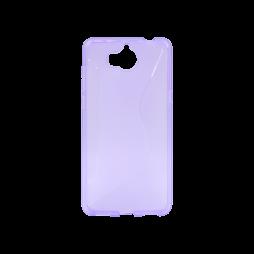 Huawei Y6 (2017) /Y5 (2017)  - Gumiran ovitek (TPU) - vijolično-prosojen CS-Type