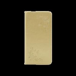Samsung Galaxy A3 (2017) - Preklopna torbica (WLGO-Butterfly) - zlata