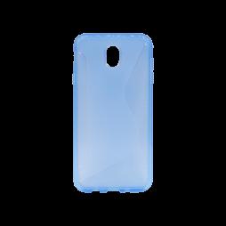 Samsung Galaxy J7 (2017) - Gumiran ovitek (TPU) - modro-prosojen CS-Type