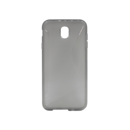 Samsung Galaxy J7 (2017) - Gumiran ovitek (TPU) - sivo-prosojen CS-Type