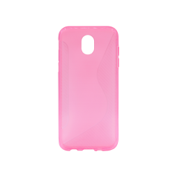 Samsung Galaxy J5 (2017) - Gumiran ovitek (TPU) - roza-prosojen CS-Type