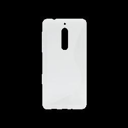 Nokia 5 - Gumiran ovitek (TPU) - belo-prosojen SLine