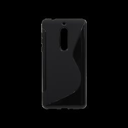 Nokia 5 - Gumiran ovitek (TPU) - črn SLine