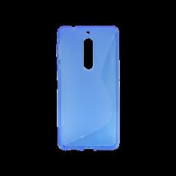 Nokia 5 - Gumiran ovitek (TPU) - modro-prosojen SLine