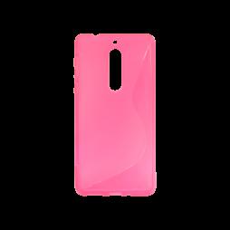 Nokia 5 - Gumiran ovitek (TPU) - roza-prosojen SLine