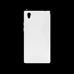 Sony Xperia L1 - Gumiran ovitek (TPU) - belo-prosojen SLine