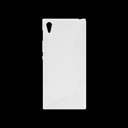 Sony Xperia XA1 Ultra - Gumiran ovitek (TPU) - belo-prosojen SLine