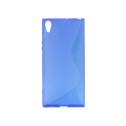 Sony Xperia XA1 Ultra - Gumiran ovitek (TPU) - modro-prosojen SLine