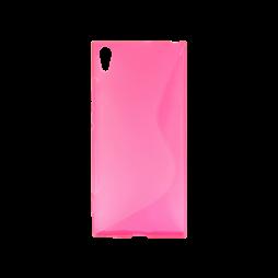 Sony Xperia XA1 Ultra - Gumiran ovitek (TPU) - roza-prosojen SLine