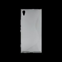 Sony Xperia XA1 Ultra - Gumiran ovitek (TPU) - sivo-prosojen SLine