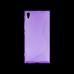 Sony Xperia XA1 Ultra - Gumiran ovitek (TPU) - vijolično-prosojen SLine