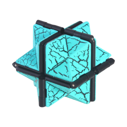 Fidget neskončna magična kocka (HEX) - turkizna