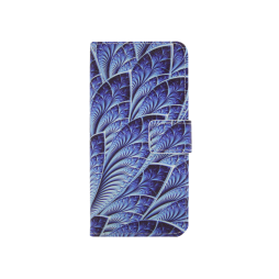 Samsung Galaxy J5 (2017) - Preklopna torbica (WLGP) - Blue leafs