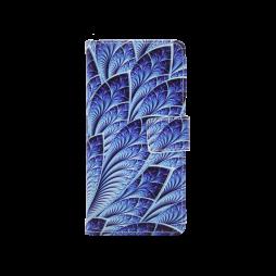 Huawei P10 - Preklopna torbica (WLGP) - Blue leafs