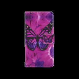 Huawei P10 - Preklopna torbica (WLGP) - Purple butterfly