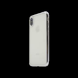 Apple iPhone X - Gumiran ovitek (TPUE) - rob srebrn