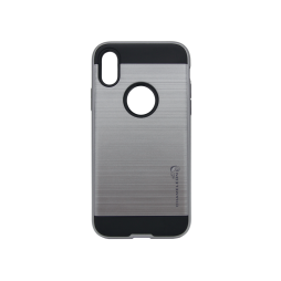 Apple iPhone X / XS - Gumiran ovitek (ARM-01) - siv