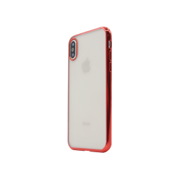 Apple iPhone X / XS - Gumiran ovitek (TPUE) - rob rdeč